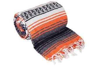 (Orange) - Canyon Creek Authentic Mexican Yoga Falsa Blanket (Orange)