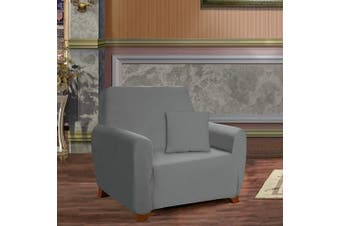 (Chair, Gray) - Elegant Comfort Furniture Jersey STRETCH SLIP-COVER, Chair Grey