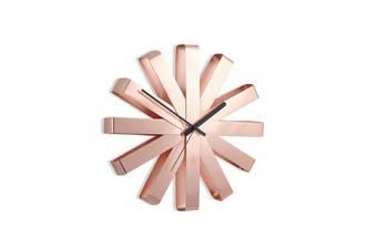 (Copper) - Umbra Ribbon Wall Clock, Copper