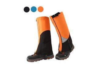 (Orange) - Tuban Hiking Gaiters Ski Snow Gaiters Waterproof Boot Gaiters Reinforced Adjustable TPU Strap Breathable 1000D Nylon Leg Gaiters