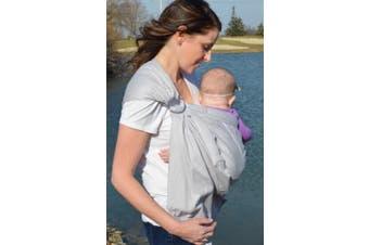 (April Sky-Open Tail) - Lite-on-Shoulder Baby Sling Carrier, Open Tail,Ergonomic, 100% Cotton, Adjustable