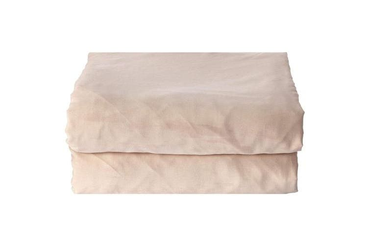 (Twin, Dull Beige) - 4U Life Bedding Fitted sheet-Prime 1800 Series , Double Brushed Microfiber,Ultra-soft Feel And Wrinkle,Fade Free , Deep Pocket For Oversized Mattress (Twin, Dull Beige)