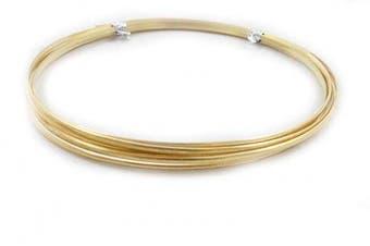 (16 Gauge, Red Brass) - 30ml (5m) Solid Red Brass Wire 16 Gauge, Half Round, Dead Soft - from Craft Wire