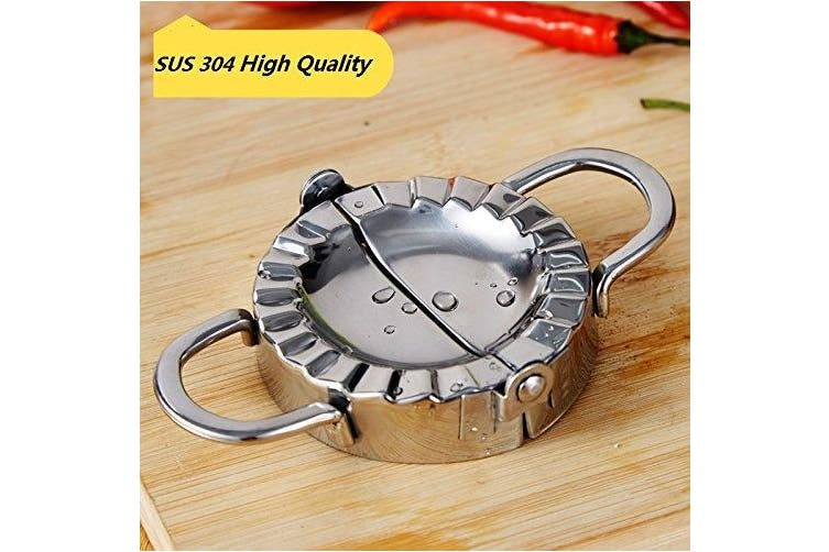 (L 11cm ) - Large Ravioli Mould Dumpling Maker Wrapper Stainless Steel Pierogie Pie Crimper Pastry Dough Press Cutter Kitchen Gadgets (L 11cm )