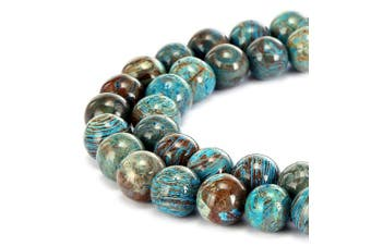 (6mm, Crazy Blue Lace Aagte) - BRCbeads Gorgeous Natural Crazy Blue Lace Agate Gemstone Smooth Round Loose Beads 6mm Approxi 15.5 inch 58pcs 1 Strand per Bag for Jewellery Making