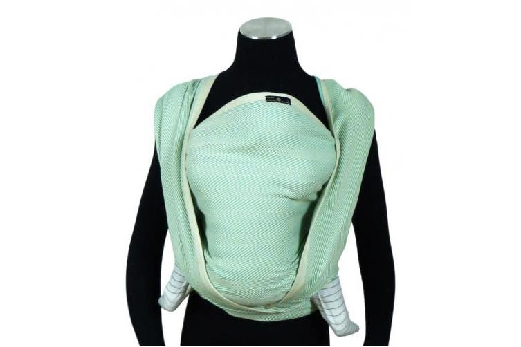 (Size 6, Karibik) - DIDYMOS Woven Wrap Baby Carrier Lisca/Herringbone Karibik (Organic Cotton), Size 6