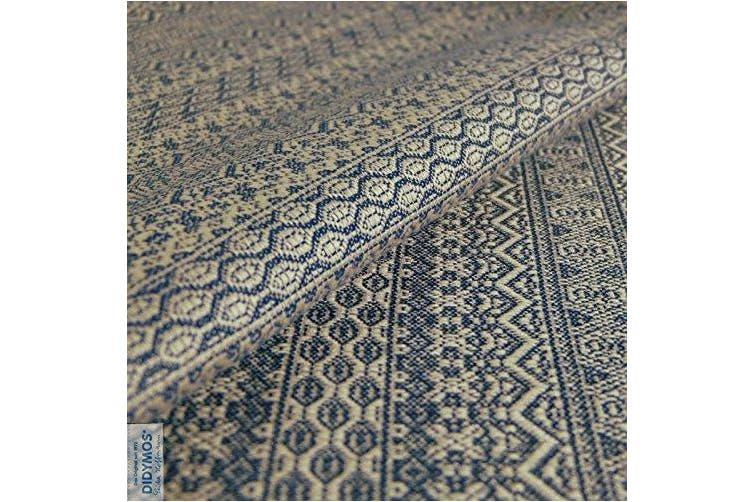 (Size 5, Original) - DIDYMOS Woven Wrap Baby Carrier Ada Dark Blue (Organic Cotton), Size 5