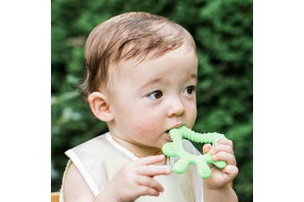 (Front & Side) - green sprouts Front & Side Teether made from Silicone | Soothes & massages baby's front & side gums & teeth | Soft, flexible silicone eases pain, Easy to hold, gum, & chew, Dishwasher safe