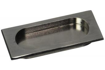 (Antique Nickel) - Deltana FP4134U15A Large 10cm x 8.3cm x 1.1cm Solid Brass Flush Pull