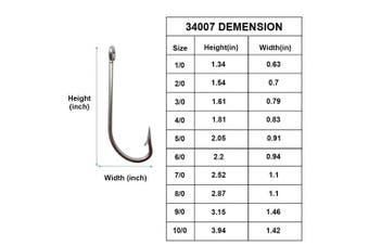 (35pcs-10/0) - AGOOL Stainless Steel Saltwater Fishing Hook 34007 O'shaughnessy Forged Long Shank Hook Extra Strong for Saltwater Freshwater Fishing Size 1/0-10/0