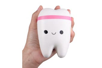 (4.4 Inch Color Randomly) - Anboor Squishies Jumbo Teeth Slow Rising Kawaii Scented Giant Tooth Toy for Play,1 Pcs Colour Random