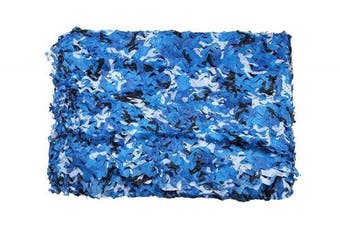 (Blue) - ABCAMO 3m X 4m (3X4M) 210D One Layer Military Outdoor Camo Netting
