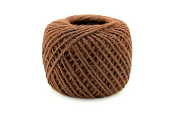 (3x, 2mm Twine 04 Brown) - BambooMN Brand - 75 Yard, 2mm Crafty Jute Twine String - Hemp Jute - 3x Brown