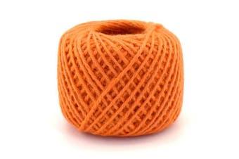(3x, 2mm Twine 06 Orange) - BambooMN Brand - 75 Yard, 2mm Crafty Jute Twine String - Hemp Jute - 3x Orange