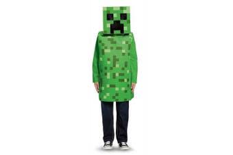 (Small (4-6), Green) - Creeper Classic Minecraft Costume, Green, Small (4-6)