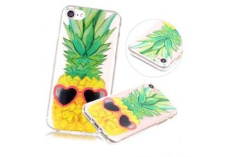 (Pineapple) - iPhone 7 Plus Case, iPhone 7 Plus Clear Case,PHEZEN Funny Pineapple Design Ultra Thin Anti-Scratch Flexible TPU Gel Rubber Soft Skin Silicone Protective Case Cover For iPhone 7 Plus 14cm