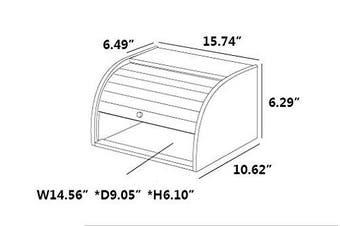 (Bamboo) - Betwoo Natural Wooden Roll Top Bread Box Kitchen Food Storage (Bamboo)