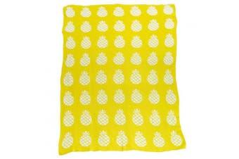(35*110cm , G) - Brandream Soft Baby Blankie Cute Toddler Crib Blankets Kids Cotton Blankets 90cm X 110cm , Yellow Pineapple