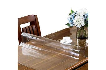 (90cm  x 150cm , 1.5mm Clear) - ETECHMART Clear PVC Table Top Protector 1.5mm Thick Multi Size 36 x 60 Inches