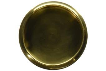 (Polished Brass) - Deltana FP221RU3 Round 6.7cm Diameter Solid Brass Flush Pull
