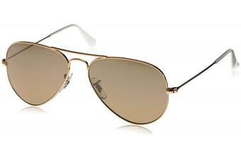 (55 mm, Gold (Gold 001/3K)) - Ray-Ban Unisex RB3025 Aviator Sunglasses 55mm