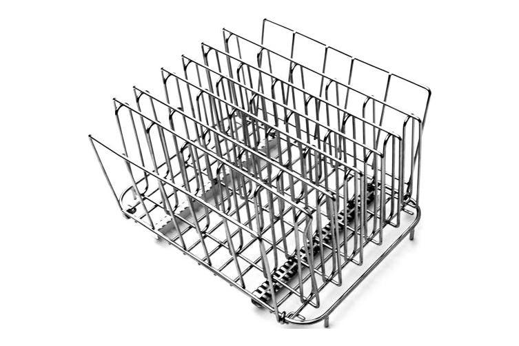(Large) - LIPAVI Sous Vide Rack – Model L15 (26SD) Stainless Steel, Square 27cm X 20cm , Height 17cm . Adjustable, Collapsible, Ensures Even and Quick Warming. Recommended for use with CAMBRO 4, 283.9l