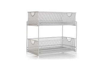 Grayline 40624 2-Tier Satin Nickel Mesh Organiser