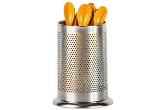 (1) - Jagurds Stainless Steel Utensil Holder - Rust-Proof Kitchen Tool Organiser, Perfect Diameter and Height Cutlery Caddy