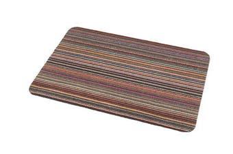 Addis Stripe Door Mat, Multi-Colour, Large, 75 x 50 cm
