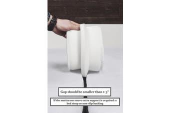 TIURE Bed Bridge Mattress Connector - Premium finish - Hypo-Allergenic foam - 2m x 17cm - Storage bag included