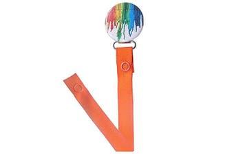 ClassyPaci Colour Streaked Pacifier Clip, Orange