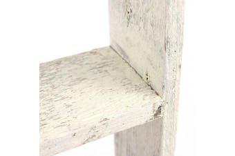 (0.9m, White) - BarnwoodUSA Rustic 0.9m Bookcase Ladder – 100% Reclaimed Wood, White