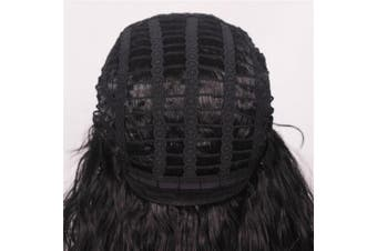 (Black(Curly)) - ColorGround Long Curly 80s Men Fashion Smart Rocker Style Wig