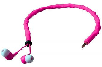 (Pearl Pink) - CordCruncher Tangle Free In Ear Headphones - Pearl Pink