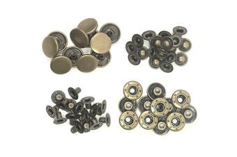 (Antique Bronze 10MM) - ALL in ONE Copper Press Studs Snap Fasteners Poppers Sewing Clothing Snaps Button (Antique Bronze 10MM)