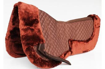 Horse English Quilted SADDLE Half Pad Correction Wither Relief Fur Brown 12216BR