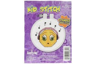 Janlynn 021-1820 Kid Singing Along Stamped Cross Stitch Kit, 7.6cm