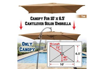 (Tan) - BenefitUSA Replacement Canopy Cover for 3m X 2m Cantilever Patio Umbrella Offest Parasol Top Replacement (Tan)