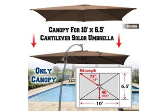 (Brown) - BenefitUSA Replacement Canopy Cover for 3m X 2m Cantilever Patio Umbrella Offest Parasol Top Replacement (Brown)