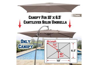 (Taupe) - BenefitUSA Replacement Canopy Cover for 3m X 2m Cantilever Patio Umbrella Offest Parasol Top Replacement (Taupe)