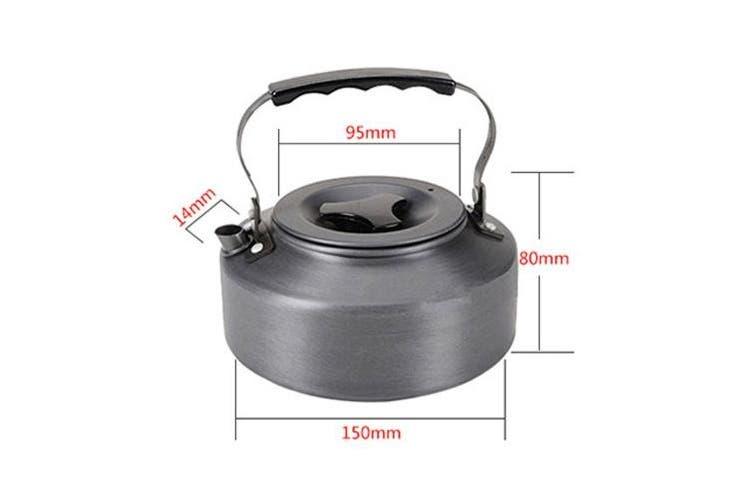 Nadalan 1.1L Anodised Aluminium Portable Ultra-light Water Kettle Teapot Coffee Pot For Outdoor Activities