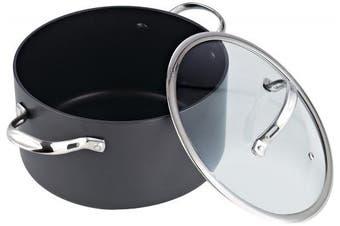 (5.7l) - Cooks Standard 5.7l Nonstick Hard Anodized Stockpot, Black
