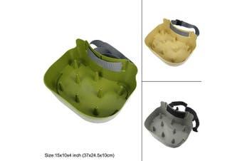 (olive green) - Riverruns line basket Authentic Danish Fisker Design Fly Fishing Stripping Basket, Ergonomic, Smooth Curved, Super light weight, Minimise Line Tangles Maximum Casting Distance