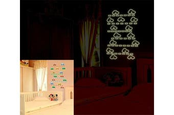 (1-15 Number Cars) - BIBITIME Glow in Dark Wall Decals 1-15 Number Cars Baby Recognition Education Fridge Luminous Stickers Home Kid Room Decor for Nursery Bedroom