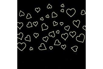 (Colorful Hearts Lovers) - BIBITIME Glow in the Dark Decals Colourful Hearts Lovers Wedding Room Luminous Wall Stickers Home Kid Rooms Decor for Baby Nursery Bedroom