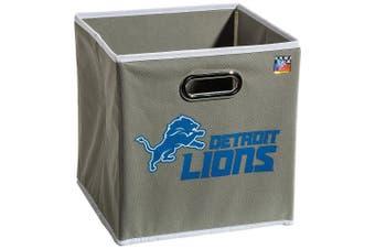 (Detroit Lions) - Franklin Sports NFL Team Fabric Storage Cubes - Made To Fit Storage Bin Organisers (11x 10.13cm x 27cm )
