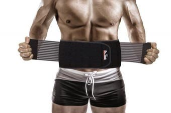 (1 Size Fits Most) - Lower Back Brace Support Belt Stabilising Lumbar – Protects & Relieves Back pain with Dual Adjustable Straps & Breathable Mesh Panels - Top Rated waist support & brace belt for men (1 SIZE FITS MOST)