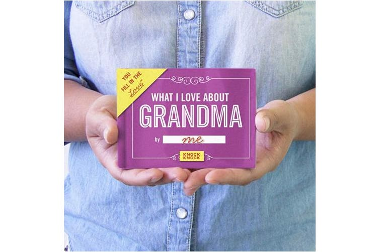 (Love Grandma) - Knock Knock What I Love About Grandma Fill in the Love Journal (Fill-in-the-Blank Journal)