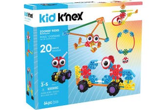 Kid K'NEX Zoomin' Rides Building Set for Ages 3 and Up