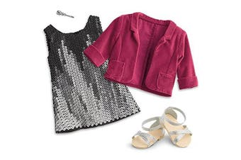 American Girl - Tenney Grant - Tenney's Sparkling Performance Outfit for 46cm Dolls - American Girl Tenney and Logan